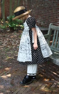Olabelhe Sewing Pattern Meg's Dress and Pinafore Pattern for Girls