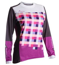 DHaRCO Ladies Gravity Jersey - purple checkers | f riders inc