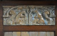 Rare Art Nouveau #fireplace attributed to Charles Gréber with squirrels decor, circa 1900 #frenchantiques