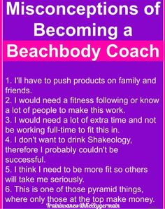 There are a lot of myths. We are the only MLM that offers both fitness workouts and nutrition. Team Success, Fitness Workouts, Beachbody, Helping People, How To Become, Nutrition, Training, Fitness Exercises, Workout Challenge