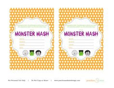 free halloween party printable invitations