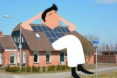 """Un uomo sdraiato su un tetto mentre prende il sole e il corpo di una donna che esce da una ciminiera: sono due delle numerose creazioni dell'illustratrice olandese  Tineke Meirink . Il suo progetto """"Stop: watch"""" consiste nel fotografare luoghi e dettagli apparentemente poco i"""