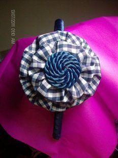 Pap de diadema de flor tela vichi