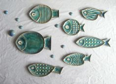 Stelle marine in ceramica a forma d'attaccatura decorativo piastre Decor su parete decorazione di pesce