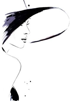 "fashion illustrations by kornelia dębosz — ""Cappuccino Flirt"" inspiration: a photo with..."