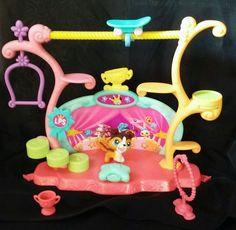 Littlest Pet Shop Tricks 'N Talents Playset Magnetic Mouth Collie Dog LPS 237  #Hasbro