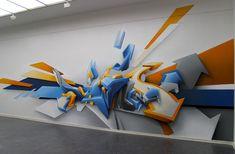 3D graffiti.