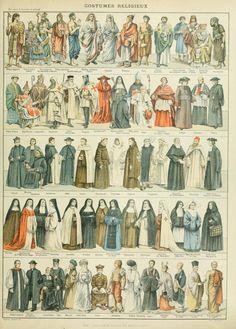 Nouveau Larousse illustré : Costumes Religieux