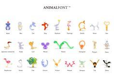 balloon animal font