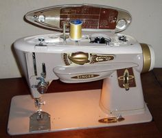 If you want a fully mechanical, gear driven, totally metal vintage sewing machine that will last forever....get one of these!  Singer Slant-O-Matic 500A made in 1963.  I learned to sew on one of these and own one myself.  Mother is still using hers, bought new in 1963!