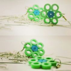 Friends, do check my #Flower Shaped #QuillingEarrings in #Fluorocentcolor  Do comment if you like them   Thank you!!!!!