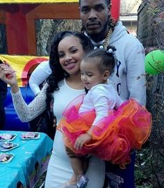 Fetty Wap, his daughter, and daughter's mother