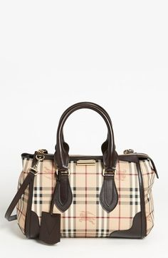 40f6f35158e Burberry  Haymarket Check  Satchel available at  Nordstrom Nordstrom  Burberry, Burberry Handbags,