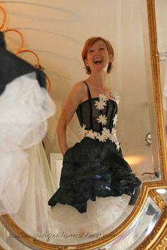 wedding dress robes de bridal forward robe de mariée noir et blanc ...