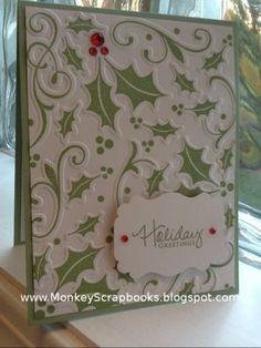 Sizzix Christmas Embossing Folders   Sizzix Hero Arts Embossing Folder Stamp Set Christmas Holly   eBay