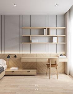 Bathroom Interior Design, Modern Interior Design, Interior Architecture, Bedroom Interiors, Home Bedroom, Hotel Room Design, Appartement Design, Furniture Design, Study