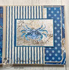 Scraps of Life: Graphic 45 Ocean Blue Mini Album Tutorial Japanese Graphic Design, Vintage Graphic Design, Graphic Design Layouts, Graphic 45, Graphic Design Posters, Brochure Design, Mini Scrapbook Albums, Mini Albums, Baby Mini Album