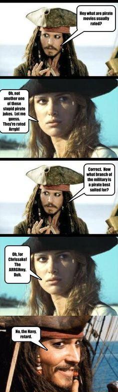 Jack Sparrow's 'Arghh' Joke