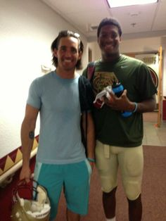 Jake Owen hanging out in the locker room with Jameis Winston. He says that Jameis is a Great guy and team leader. I agree!