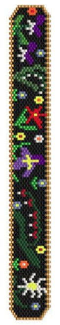 Mille Fleurs Bracelet Pattern at Sova-Enterprises.com. Lots of free beading patterns and tutorials on this site!