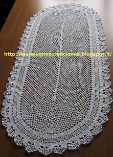 Camino tejido en crochet de filet