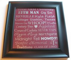 Custom Texas A&M University Subway Art 12 x by CraftingImpressions, $39.99