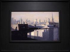 Michael Grimaldi, Cityscape, Oil On Panel, 10x16, Sold