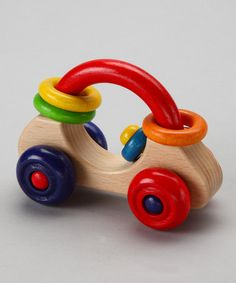 Take a look at this First Car Rattle by HeidiKids on #zulily today!