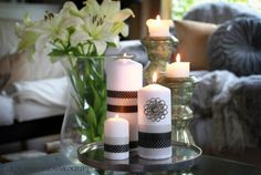 Washi tape with table candles