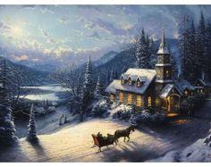 Sunday Evening Sleigh Ride Classic ---- okay, so almost anything by Thomas Kinkade!