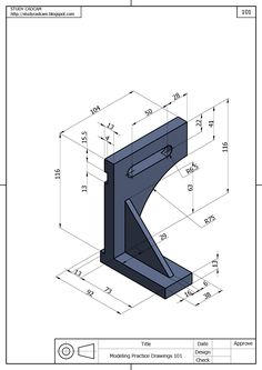 Isometric Drawing Exercises, Autocad Isometric Drawing, Mechanical Engineering Design, Mechanical Design, 3d Sketch, Sketch Design, Cad 3d, Solidworks Tutorial, Interesting Drawings