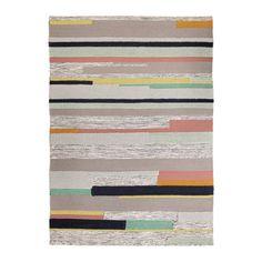 BRÖNDEN Teppich Kurzflor IKEA Handgewebt von talentierten Kunsthandwerkern; jedes Produkt ist einmalig in Muster und Größe.