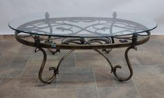 Wrought Iron Coffee Tables with Glass top - Modern Home Furniture Check more at http://www.nikkitsfun.com/wrought-iron-coffee-tables-with-glass-top/