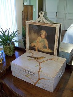 recycled box from ugly to beautiful!