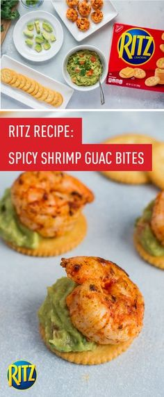 """When it comes to entertaining, simple yet show-stopping appetizers are the way to go. Check out this recipe for Spicy Shrimp and Guacamole Bites made with RITZ Crackers to find your next get-together go-to. Along with these RITZ Chicken """"Nachos"""", having these tasty dish ideas up your sleeve makes hosting easier than ever! Find all the ingredients you'll need for your next party at your local ShopRite store."""