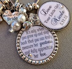 MOTHER of the BRIDE gift PERSONALIZED keychain  her by buttonit, $31.00