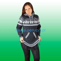 SWETER WELNIANY Z ALPAKI LA CHAQUIRA SZARA Peruart Wełniane swetry - Sweter z wełny alpaki Wełniane swetry - Sweter z wełny alpaki / UBRANIA ETNICZNE