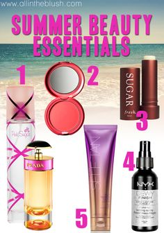 summer beauty essentials via all in the blush
