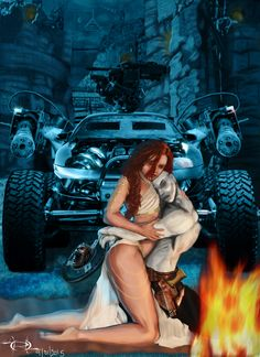 ArtStation - Mad Max - Nux and Capable - Embrace, Roberto Garcia Mad Max Fury Road, Tv Show Games, Post Apocalyptic, Cute Love, Movie Tv, Tv Series, Horror, Sad, Fan Art