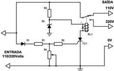 Este circuito de Chave seletora de Tensão Automática é capaz de detectar uma tensão de 220 Volts e acionar um relé para a mudança de tensão automaticamente