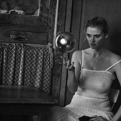 Lara Stone, Fontainebleau, 2015 via Peter Lindbergh, The New Yorker, Freja Beha Erichsen, Rain Photography, Lara Stone, Famous Photographers, Black And White Photography, Beauty Women, Illusions