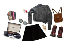 """""""sch"""" by nina-ci on Polyvore featuring Max&Co., American Apparel, Dr. Martens, Cartier, Crosley Radio & Furniture, Chanel and DICK MOBY"""