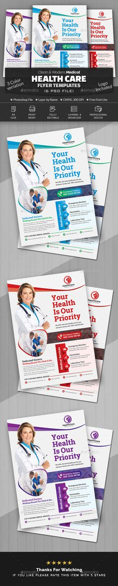 Buy Medical Health Care Flyer by Creative-Touch on GraphicRiver. This Flyer Template is perfectly suitable for promoting your Business. Medical Health Care, Promote Your Business, Flyer Template, Make It Simple, Texts, Templates, Lettering, Free, Stencils