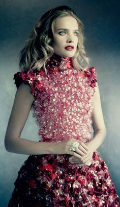 Natalia Vodianova by Paolo Roversi for Vogue Russia December 2014 #FarfetchFairytale