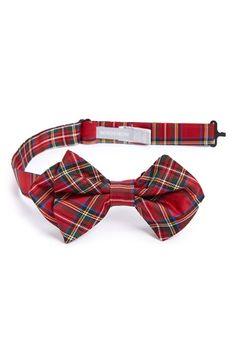 Nordstrom 'Royal Stewart' Silk Bow Tie (Toddler Boys)