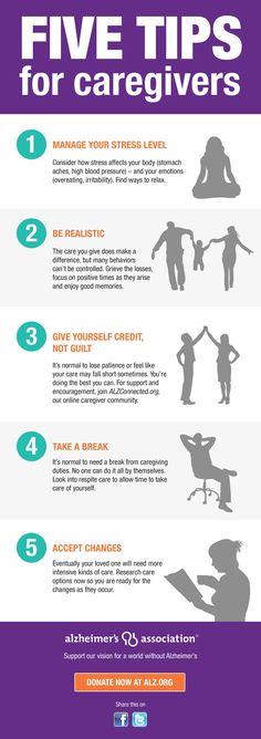 Five tips for caregivers by Alzheimer's