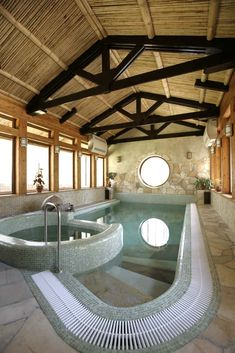 Want indoor swimming pool concepts? Try out huge photograph gallery showcasing 52 cool indoor swimming pool designs. If you wish to swim year-around, an incredible choice is an indoor pool. Swimming Pool Photos, Luxury Swimming Pools, Luxury Pools, Indoor Swimming Pools, Swimming Pool Designs, Lap Swimming, Lap Pools, Backyard Pools, Dream Pools