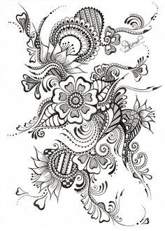 Coloriage Anti Stress Tatouage à colorier - Dessin à imprimer