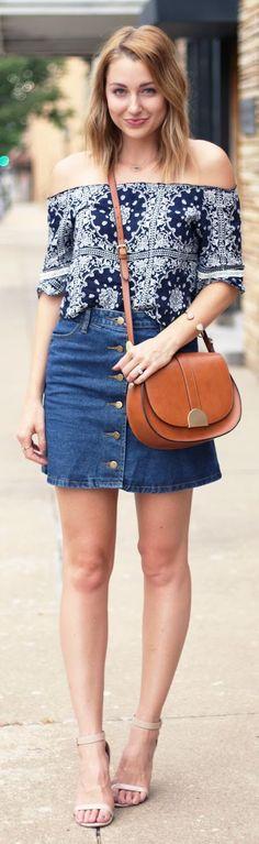 Denim Skirt End Of Summer Inspo