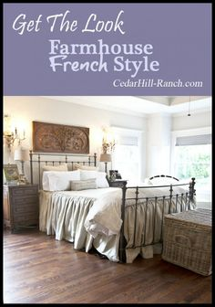 Easy steps to creating your own French farmhouse decor. Two styles here plus vintage